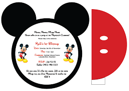 mickey mouse invitation template mickey mouse invitations