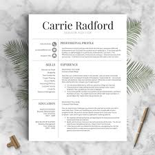 Words To Describe Yourself In A Cv Classic Professional Resume Template The Carrie U2013 Landed Design