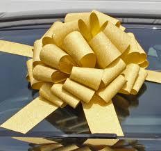gold glitter car new mega giant car bow 42cm diameter with 6m ribbon glitter gold