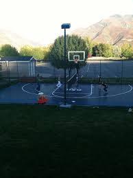 the pro dunk diamond basketball system sits nicely in this utah