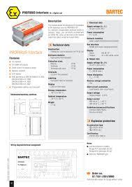 profibus interface 16 x digital out bartec pdf catalogue