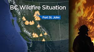 Prince George Bc Wildfire by 49 Temperature Records Broken In Bc On Monday Bc Globalnews Ca