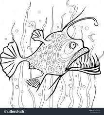 angler fish coloring pages eson me