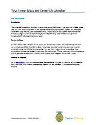 Career Cruising Resume Builder Activity 3 Using Career Matchmaker Mafiadoc Com