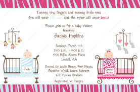 Babyshower Invitation Card Baby Shower Invites For Twins Theruntime Com