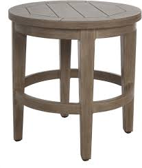 Round Wooden Outdoor Table Patio Side Table Home Design By Fuller