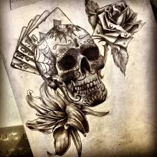 hd sugar skulls and roses tattoos design idea for and