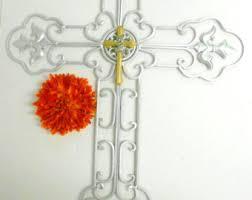 unique wall crosses silver wall cross etsy