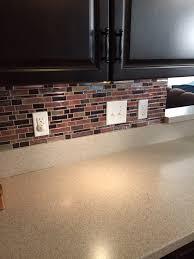 kitchen style self adhesive mosaic tiles mirrored tile backsplash