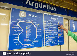 Subway Station Map by Spain Europe Spanish Hispanic Madrid Moncloa Aravaca Arguelles