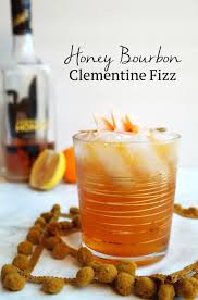 honey bourbon clementine fizz sequins at breakfast
