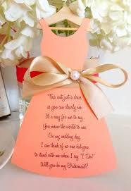 of honor asking ideas six ways to ask your bridesmaid personalised card chwv