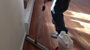 how to apply water based finish on the floor the best technic