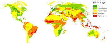 World Map Picture Maps Show Humans U0027 Growing Impact On The Planet