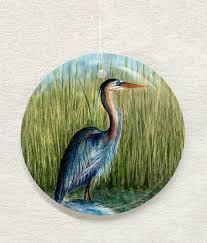 blue heron ornament suncatcher kiker designs