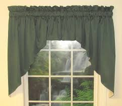 Hunter Green Window Curtains by Galaxy 39 Inch Long Lined 2 Pc Swag Valance Close Out