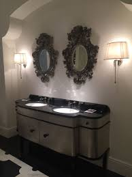 Black Framed Bathroom Mirror by Black Framed Mirror And Double Vanity Home Decorating Trends