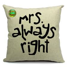 Sofa Pillow Cases Set 4 Moustache Lip Kiss Mr Mrs Always Right Throw Pillow Cover