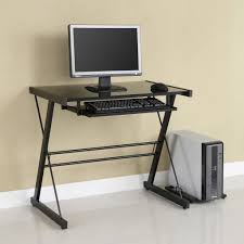 unique modern desks for small spaces having free form glass top