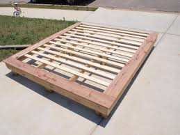 Build Your Own Platform Bed Frame Plans by Ana White King Size Platform Frame Diy Projects