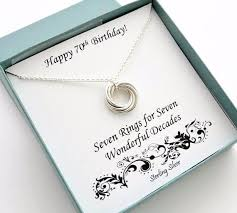 necklace gift images 70th birthday gift sterling silver birthday necklace jpg