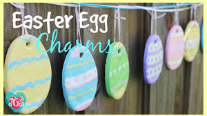 how to make easter egg charms diy easy salt dough easter crafts