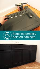 steps to paint oak kitchen cabinets painting wood cabinets one room challenge week 3 fresh