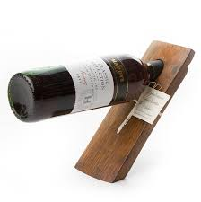 barrel stave balancing wine bottle holder by phil rao studio two