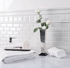 Elegant White Subway Tile Bathroom All Home Decorations - Modern subway tile bathroom designs