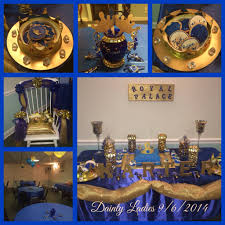 prince baby shower decorations royal blue baby shower theme style by modernstork