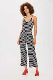 topshop jumpsuit stripe wrap jumpsuit topshop usa