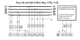 explanation of voltage and current input wiring diagram for