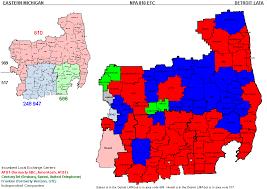 area code map of michigan eastern michigan telecom michigan