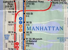 Metro Map New York by Subway Map Of The New York Underground Metro Tube Network Stock