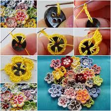button flowers simple yet stunning crochet button flowers