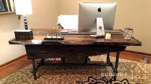Desk Plans Diy Rustic Office Desks Diy Desk Plans To Build Your Own Simplified