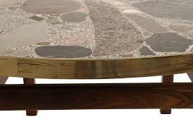 round stone top coffee table decor of stone coffee table round stone top coffee table at 1stdibs
