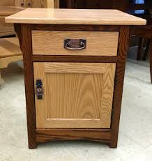 Amish End Tables by Mission 1 Door End Table With Two Tone Finish Amish Traditions Wv