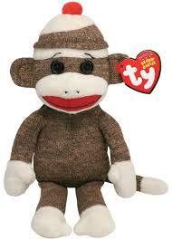 Sock Monkey Baby Bedding Ty Beanie Baby Socks The Sock Monkey Brown Multi Colored