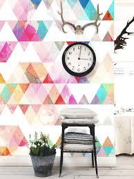 multi colored geometric removable wallpaper peel u0026 stick wall