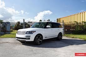 white range rover rims vossen wheels land rover range rover vossen cv3r