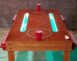 Chandelier Beer Game Beer Pong Table Etsy