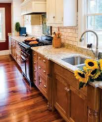 image result for wood lower white upper cabinets small kitchen