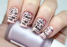diy valentine u0027s nails love note nail art дизайн ногтей на день