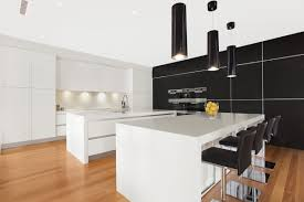 kitchen black and white modern kitchen with european designs