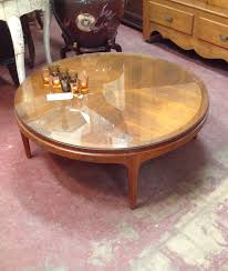 sold 295 vintage mid century modern lane round coffee table