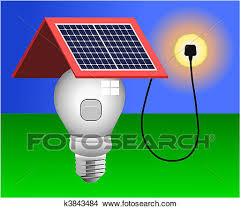 Solar Energy Lighting - clipart of solar panels energy light vector k3843484 search