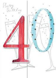 happy birthday card 40th birthday champagne size 4 75 x 6 75 hb157