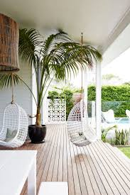 outdoor patio with hanging egg chair comfort the whole space