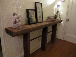 Foyer Entry Tables Furniture Reclaimed Wood Sofa Table Emmerson Table West Elm